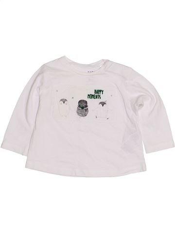 T-shirt manches longues fille ZARA blanc 3 mois hiver #1432134_1