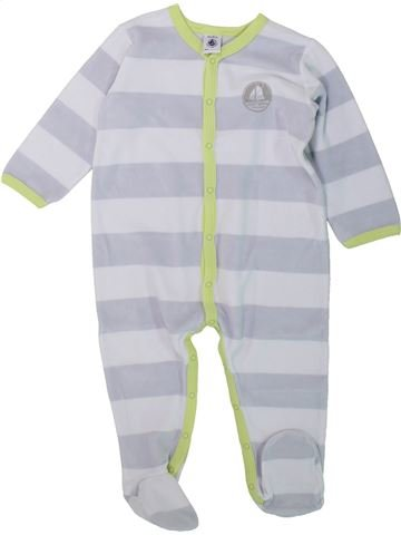 Pijama de 1 pieza niño PETIT BATEAU gris 18 meses invierno #1432185_1