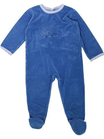 Pyjama 1 pièce garçon PETIT BATEAU bleu 2 ans hiver #1432188_1