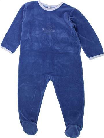 Pyjama 1 pièce garçon PETIT BATEAU bleu 2 ans hiver #1432196_1