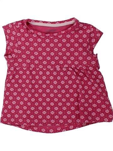 T-shirt manches courtes fille VERTBAUDET violet 2 ans été #1432417_1