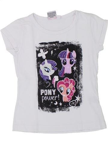 T-shirt manches courtes fille MY LITTLE PONY blanc 4 ans été #1432689_1