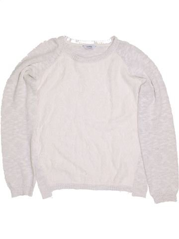 Pull fille GEORGE blanc 13 ans hiver #1432750_1