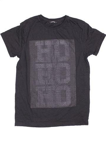 T-shirt manches courtes fille GEORGE gris 14 ans été #1432756_1