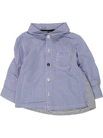 Chemise manches longues garçon TAPE À L'OEIL bleu 12 mois hiver #1432801_1