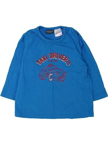 Camiseta de manga larga niño LA REDOUTE CRÉATION azul 12 meses invierno #1432864_1