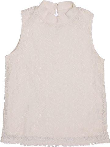 T-shirt col roulé fille RIVER ISLAND blanc 10 ans hiver #1432870_1