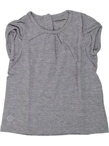T-shirt manches courtes fille VERTBAUDET gris 18 mois été #1432952_1