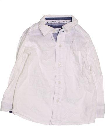 Chemise manches longues garçon JUNIOR J blanc 3 ans hiver #1432966_1