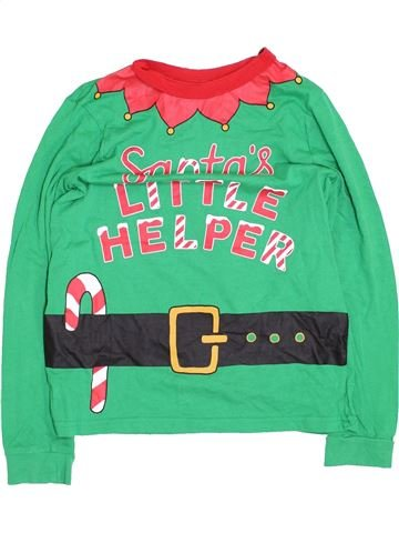 T-shirt manches longues unisexe GEORGE vert 11 ans hiver #1432978_1