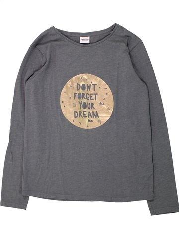 T-shirt manches longues fille TAPE À L'OEIL gris 14 ans hiver #1432979_1