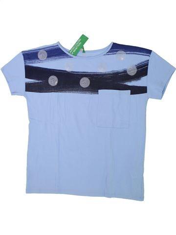T-shirt manches courtes fille BENETTON bleu 14 ans été #1432989_1
