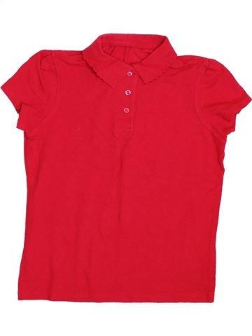 Polo manches courtes fille GEORGE rouge 10 ans été #1433039_1