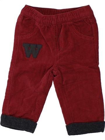 Pantalon garçon KIABI rouge 6 mois hiver #1433192_1