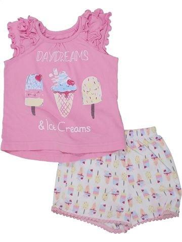 Pijama de 2 piezas niña MATALAN rosa 18 meses verano #1433216_1