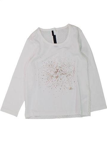 T-shirt manches longues fille IKKS blanc 3 ans hiver #1433235_1