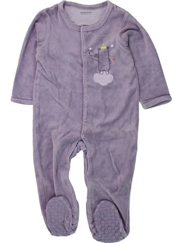 Pijama de 1 pieza niña VERTBAUDET gris 18 meses invierno #1433674_1