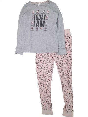 Pijama de 2 piezas niña C&A gris 12 años invierno #1433689_1