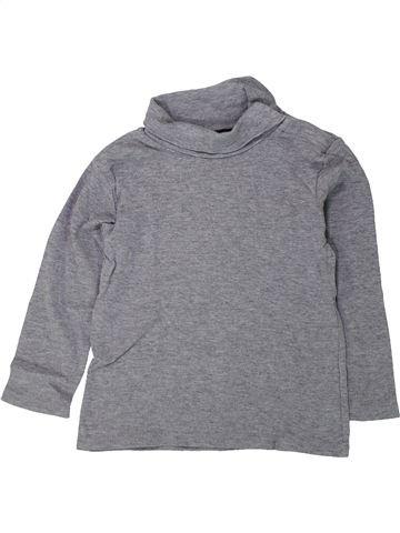 Camiseta de cuello alto niño KIABI gris 4 años invierno #1433788_1