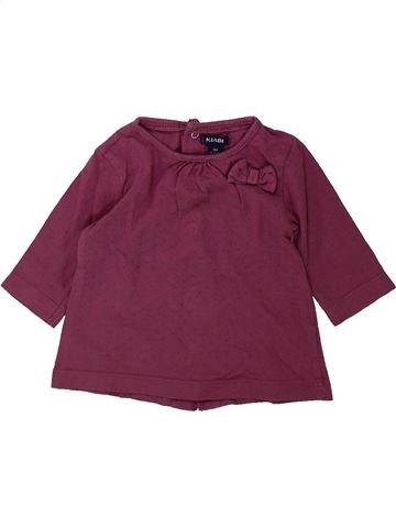 Camiseta de manga larga niña KIABI violeta 3 meses invierno #1433827_1