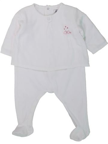 Pyjama 1 pièce fille PETIT BATEAU blanc 6 mois hiver #1433881_1