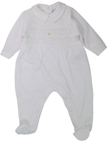 Pijama de 1 pieza niña TARTINE ET CHOCOLAT blanco 6 meses invierno #1433883_1