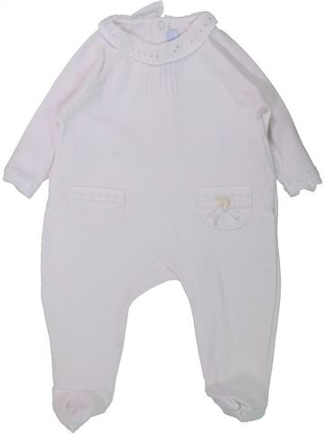 Pijama de 1 pieza niña TARTINE ET CHOCOLAT blanco 6 meses verano #1433884_1