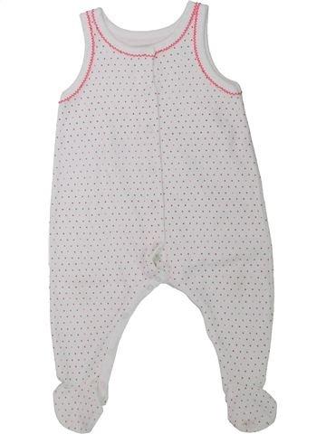 Pijama de 1 pieza niña PETIT BATEAU blanco 6 meses invierno #1433926_1
