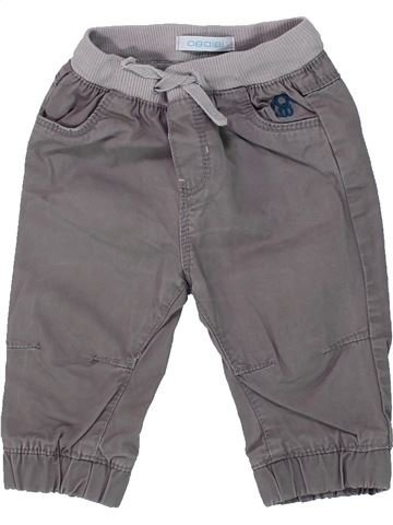 Pantalon garçon OKAIDI gris 6 mois hiver #1434513_1