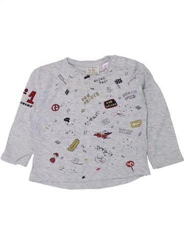 T-shirt manches longues garçon ZARA gris 12 mois hiver #1434713_1
