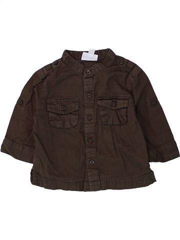 Chemise manches longues garçon VERTBAUDET marron 3 mois hiver #1434733_1