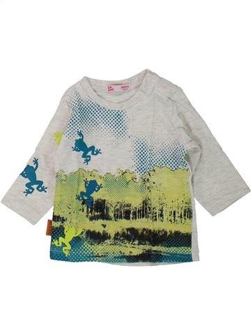 T-shirt manches longues garçon DPAM gris 3 mois hiver #1435113_1