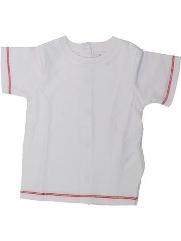 T-shirt manches courtes garçon KIMBALOO blanc 6 mois été #1435682_1