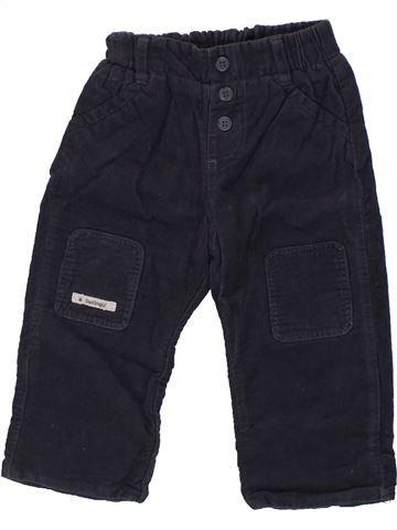 Pantalón niño BERLINGOT azul oscuro 6 meses invierno #1437834_1
