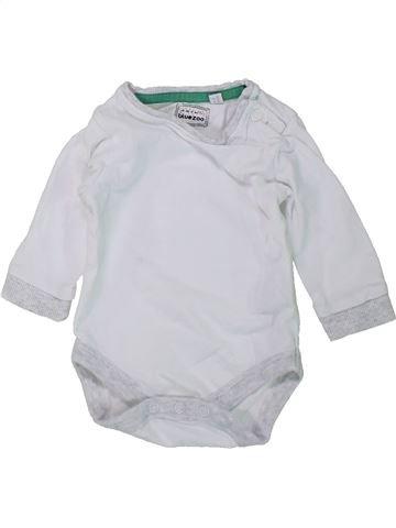 Camiseta de manga larga niño BLUEZOO blanco 3 meses invierno #1438504_1