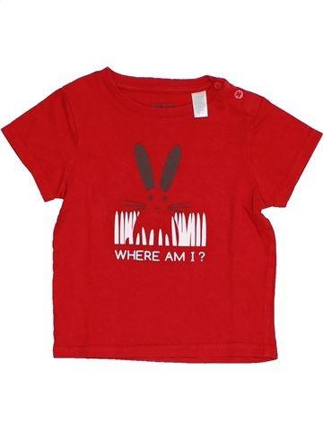 T-shirt manches courtes garçon OKAIDI rouge 12 mois été #1439390_1