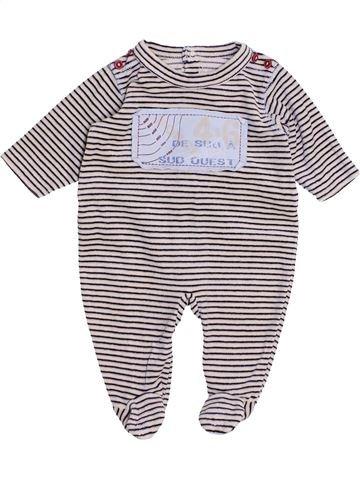 Pijama de 1 pieza niño SUCRE D'ORGE blanco 3 meses invierno #1441335_1