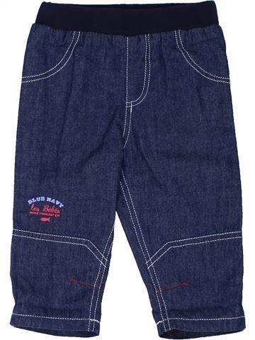 Pantalon garçon LES BEBES SONT COMME ÇA bleu 6 mois hiver #1441630_1