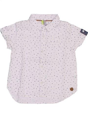 Chemise manches courtes garçon ORCHESTRA blanc 9 mois été #1442690_1