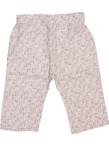 Pantalon fille OKAIDI blanc 6 mois été #1443577_1