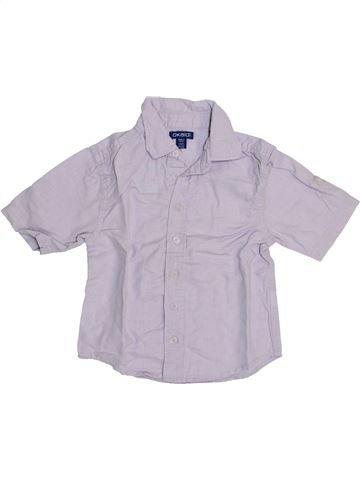 Chemise manches courtes garçon OKAIDI violet 3 ans été #1443634_1