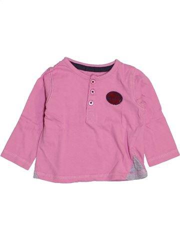 T-shirt manches longues garçon VERTBAUDET rose 9 mois hiver #1443709_1