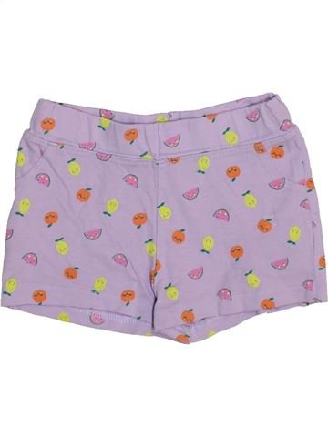 Short-Bermudas niña VERTBAUDET violeta 2 años verano #1443934_1