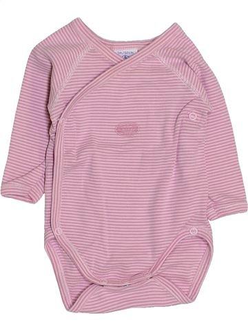 T-shirt manches longues fille PETIT BATEAU rose 3 mois hiver #1444167_1