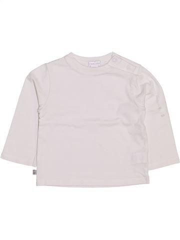 T-shirt manches longues garçon OKAIDI blanc 12 mois hiver #1444349_1