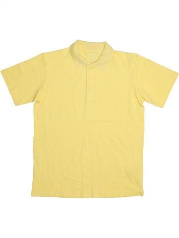 Polo manches courtes garçon MATALAN jaune 11 ans été #1444741_1