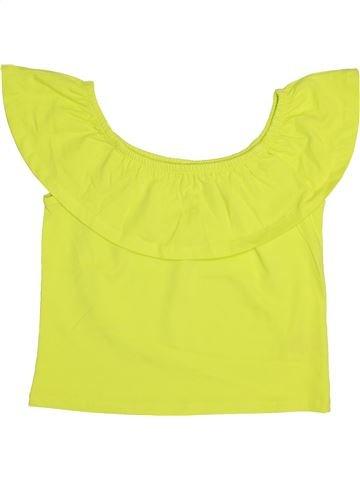 T-shirt manches courtes fille MISS E-VIE jaune 12 ans été #1444974_1