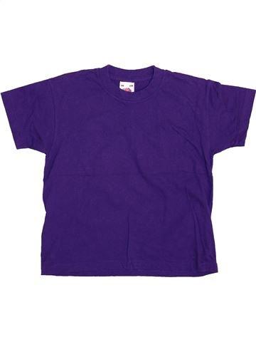 T-shirt manches courtes fille FRUIT OF THE LOOM violet 4 ans été #1444976_1