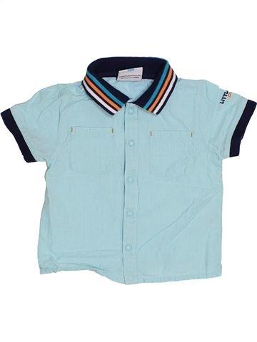 Chemise manches courtes garçon TOPOMINI bleu 12 mois été #1445234_1