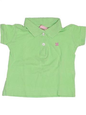 Polo manches courtes fille IMPIDIMPI vert 18 mois été #1445391_1